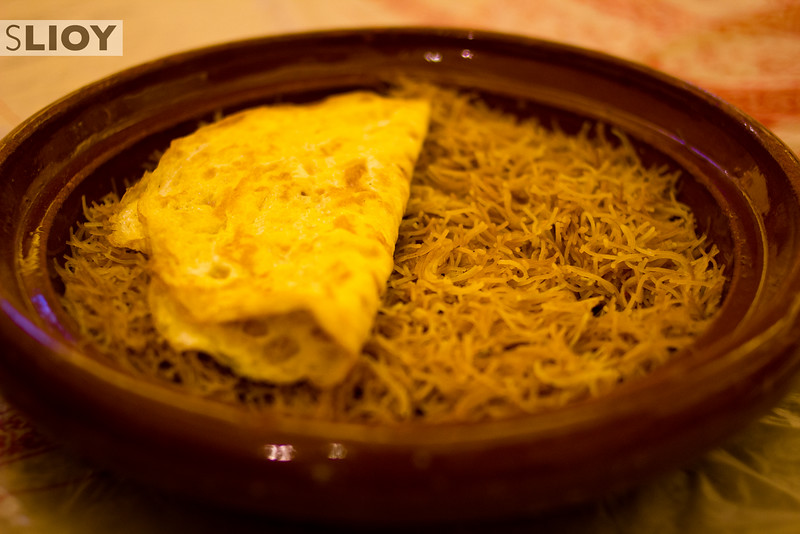 Balaleet, a traditional Emirate breakfast dish of noodles and cardamom.