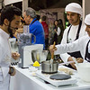 Chef Bader Najeeb Al Awadhi in the Kenwood Cooking School at  Taste of Dubai festival.
