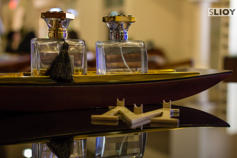 Arabian perfume at Melis restaurant in Dubai Mall.
