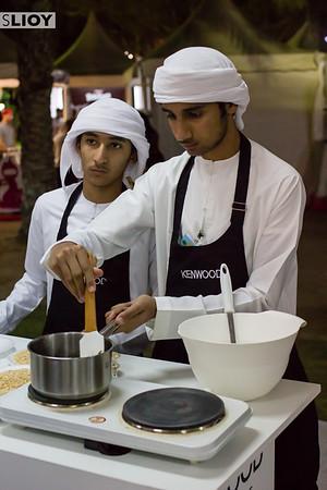 An Emirati cooking class at the Taste of Dubai festival.