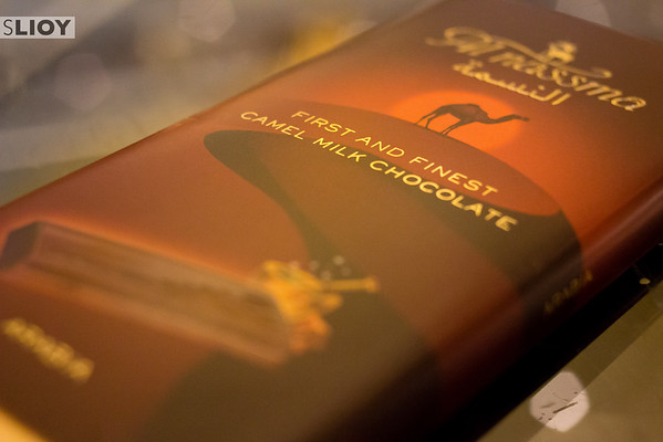 Camel milk chocolate from Al Nassma in Dubai.