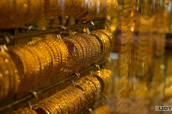 Dubai Gold Souk in Macro.