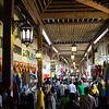 Shoppers at the Bur Dubai Souk in Old Dubai, UAE.