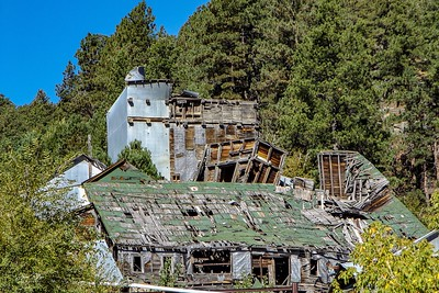 Abandoned Etta mine near Keystone, South Dakota. Closed in 1968. I enjoy the mixtures of materials used to build it. Enjoy and hold hands.