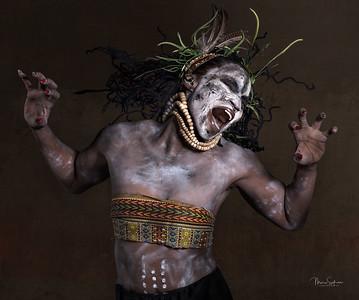 Afro model shoot