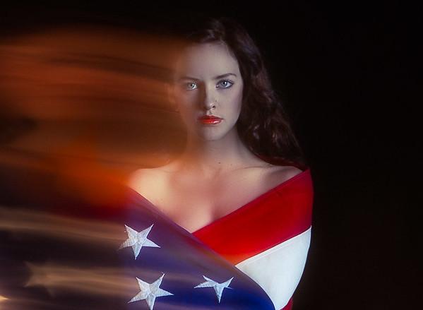 Shannon Quinn with Flag