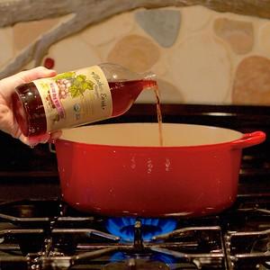 Pouring into pot 151