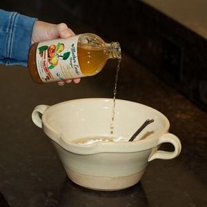 Poring into pie mix  155