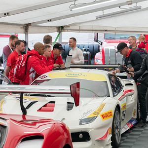 Ferrari North America preparing car #133