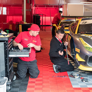 Ferrari of Ontario mechanics at work