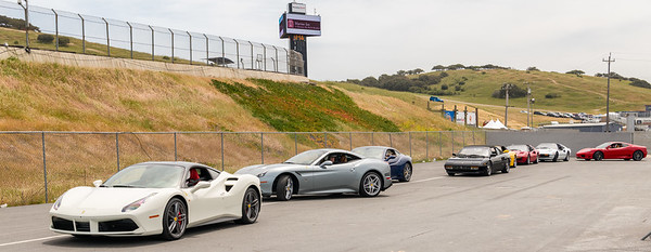Ferrari roadcars queued up for some track time
