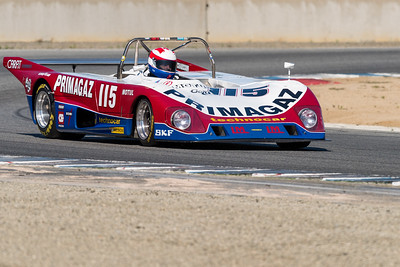 1974 Lola T294 of Cal Meeker powering out of Turn 11