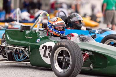 Andrew Wait in Lola T205 preparing for the race
