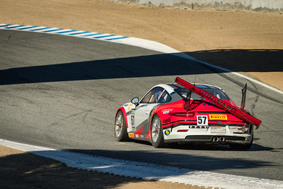 Porsche GT3 heading back to the pits