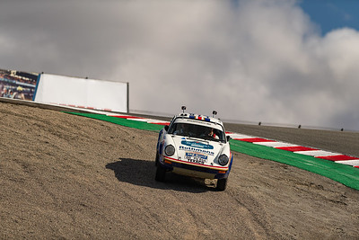 1984 Porsche 953 Paris Dakar rally winner taking the shortcut through the Corkscrew