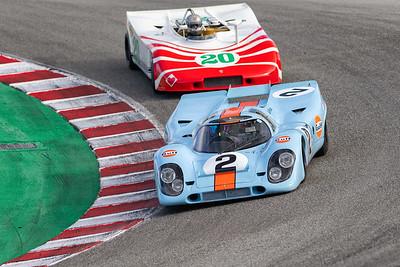1969 Porsche 917 &  1970 Porsche 908/3 in the Corkscrew