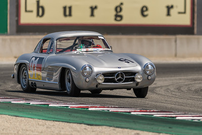 1955 Mercedes Benz 300SL sliding out of Turn 11 with Alex Curtis at the wheel