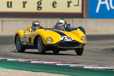 1957 Ferrari 500 TRC  piloted by James Cottingham