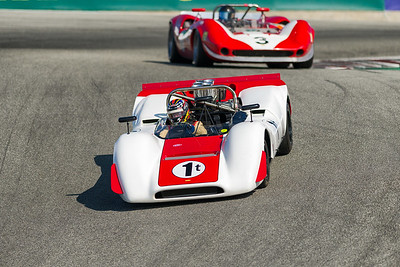 1968 Lola 160 dropping into the Corkscrew driven by Chuck McConnell