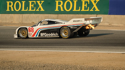 Wade Carter driving the 1984 Porsche 962
