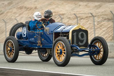 Charles Test driving the 1911 National Speedway Roadster
