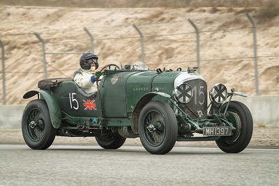 Bruce Mccaw driving the 1929 Bentley 4.5 liter LeMans