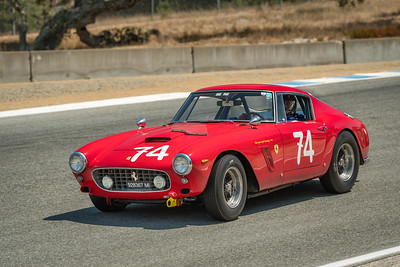 Ned Spieker driving the 1961 Ferrari 250 GT SWB