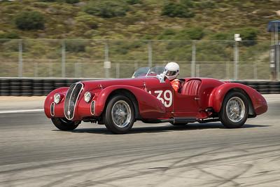 Conrad Stevenson driving the 1939 Alfa Romeo 6C 2500
