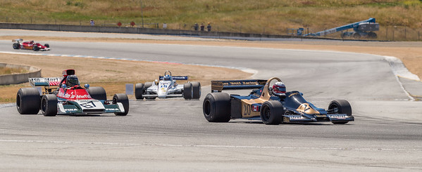 Eddie Lawson in Wolf WR4 leads Williams FX3B of Michael Eckstein into Turn 11