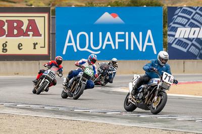 Historic motorcycle exhibition laps