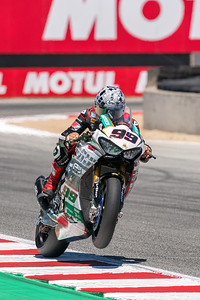 PJ Jacobsen exits Turn 11 on the Honda CBR1000RR