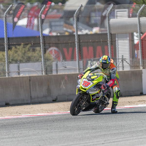Sebastio Ferreira #73 Yamaha braking & turning into T5 (2 of 3)