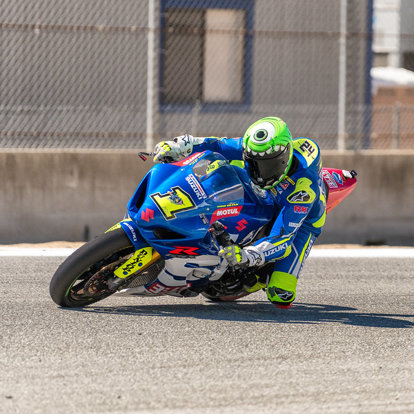 Toni Elias on the #1 Yoshimura Suzuki GSX-R1000