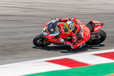 Chaz Davies exits the Corkscrew on the #7 Ducati Panigale R