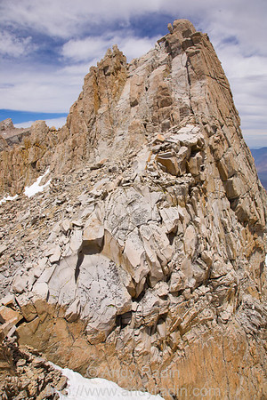 The southern face of Mt. Muir, a short scramble away from the Whitney trail