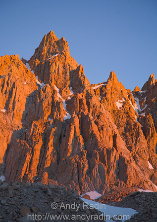 Morning alpenglow on Mt. Muir