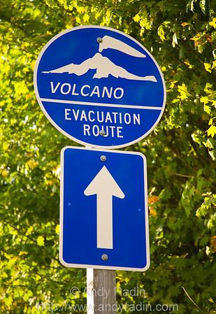 Volcano Evacuation Route