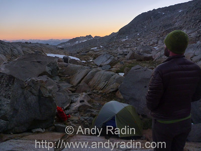 Early morning on summit day
