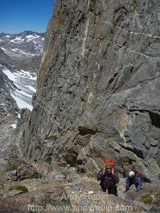 Going up the couloir