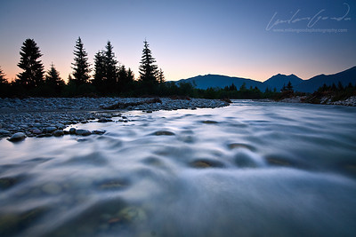 river bela, zapadne tatry mountain range, slovakia