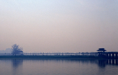 U Bein's Foot-bridge, Taungthaman Lake, Amarapura, Burma (Myanmar)