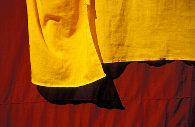 Close-up of Dress of Buddhist Monks, Burma