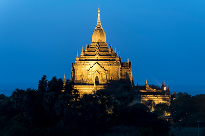 Htilominlo Temple by night, Bagan, Burma - Myanmar