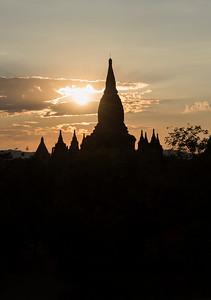 Sunset over temples of Bagan, Burma - Myanmar
