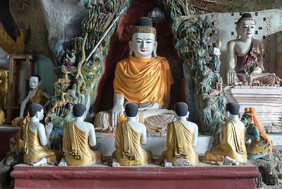Kaw-goon (or Kawgun) Cave Temple, Mon State, Burma (Myanmar)