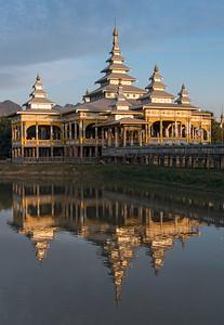 Kyauk Kalap (Kyauk Ka Lat) Monastery near Hpa-An, Burma (Myanmar)