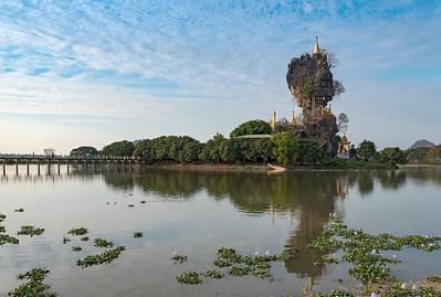 Kyauk Kalap (Kyauk Ka Lat) Pagoda near Hpa-An, Burma (Myanmar)