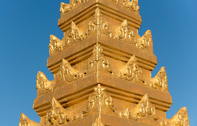 Close-up of ornate stupa, Ywama village, Inle Lake, Burma (Myanmar)