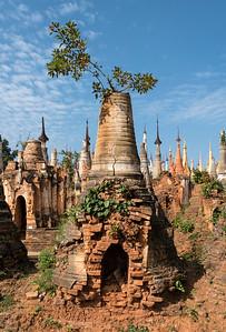 Shwe Inn Thein Pagoda, Inthein (Indein) near Inle Lake, Shan State, Burma (Myanmar)