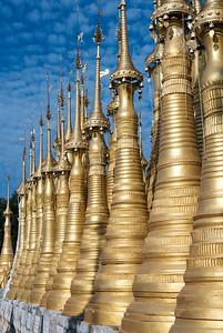 Golden stupas, Inthein